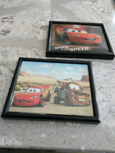 "2 - DISNEY ""CARS"" LIGHTNING MCQUEEN/TOW MATER PICTURES"
