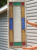 Stain glass antique window