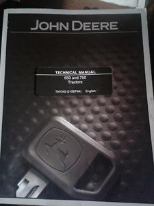 JOHN DEERE 650 & 750 TECHNICAL MANUAL & PARTS MANUAL