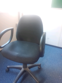 Charcoal grey operator office chair