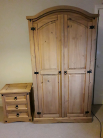 Wardrobe and bedside drawers