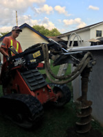 POST HOLE DIGGING / MINI SKID STEER SERVICE
