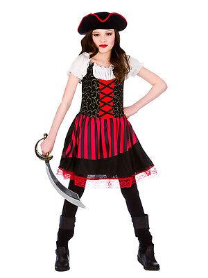 Girls Childs Pretty Pirate Girl Princess Caribbean Halloween Fancy Dress Costum ()