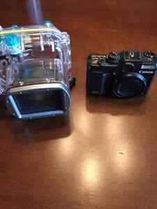 Canon G10 PowerShot and Cannon Waterproof case