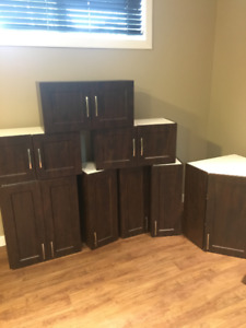 Upper Kitchen Cabinets - Solid Wood