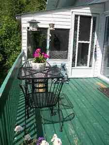 Table et 2 chaises en fer forgé noir