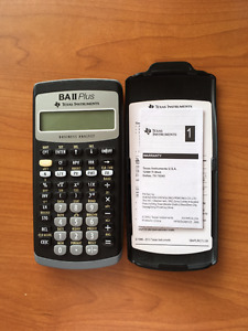 Calculator- Texas instruments BAII PLUS