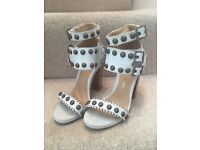 Stunning white studded heels for sale!