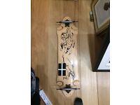 Psycho longboards, samurai deck and trucks.