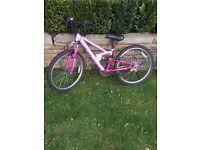 Girls suspension bike