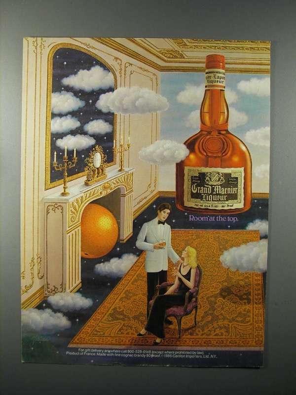 1985 Grand Marnier Liqueur Ad - Room at the Top