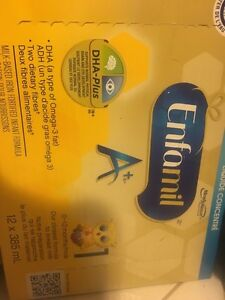 Selling two cases plus 6 unopened cans of Enfamil A+