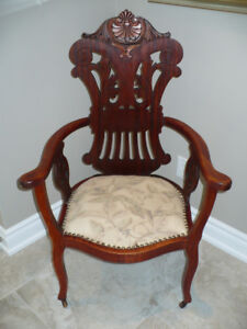 Antique accent side chair