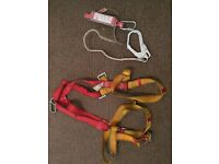Protecta full body harness and 1m rope lanyard
