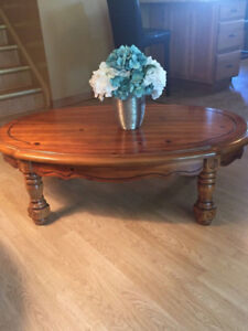 Coffee and 2 End Tables - Hardwood