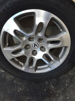 255-55-18 All season tires and Acura MDX Genuine wheels