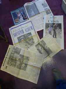 British Royal Family - Canadian Newspaper Clipping Lot
