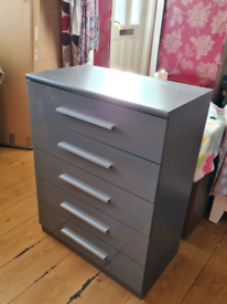 Drawer gray high gloss new £125