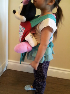 Hand made toy.  Baby doll carrier.