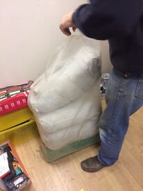 4 bags of horse hair for upholstery