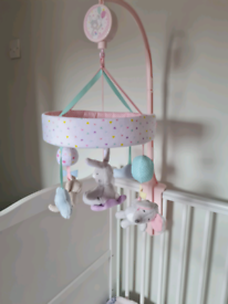 Girls cot mobile