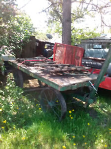 CP rail baggage cart with railing