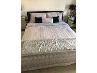 King size leather effect bed frame immaculate