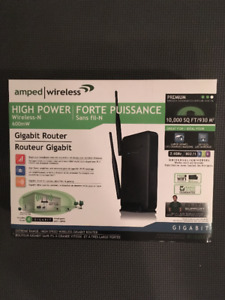 Amped High Power Wireless-N Gigabit Router - new