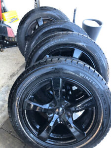 """4 BMW X5 winter tire package with Rims Dunlop winter 18"""""""