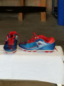 RAWLINGS Baseball Cleat Red & Blue Size: 6 youth