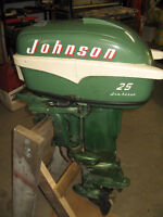 Johnson 1955 Outboard Motor and Spare Parts