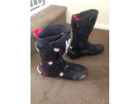 Sidi MAG-1 Black Motorbike Race Track Boots Size 9,5