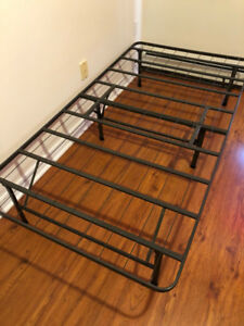 Metal bed frame for twin mattress