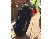 Taylormade bag, various clubs, balls and shoes £30