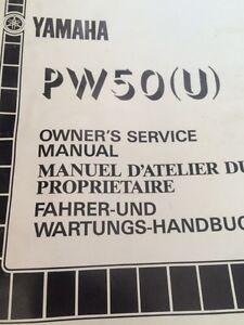 1987 Yamaha PW50U owners Service Manualt