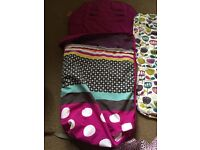 Fleece lined foot muff and buggy liner