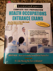 Health occupations entrance exams text book