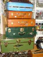 Trunks and vintage suitcases