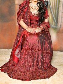 Asian indian pakistani wedding bridal dress lengha