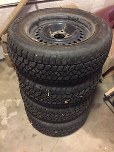 Winter tires and rims 215/60/15