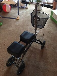 Drive knee scooter walker with basket
