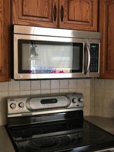 LG OTR (over the range) microwave