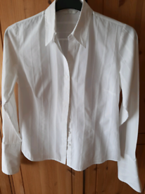 M & S ladies white fitted shirt 12