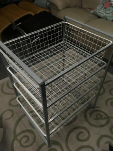 Ikea frame and four wire baskets, great condition.