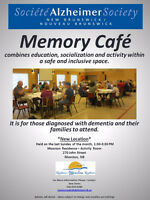 Volunteer Opportunity: Moncton Memory Cafe