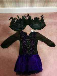 Girls large dark fairy Halloween costume