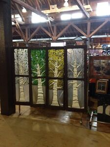 4 seasons stained glass mosaic
