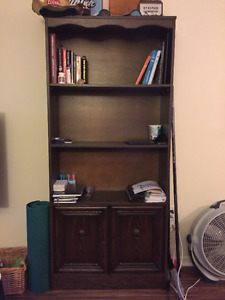 Solid Large Brown Bookcase, great condition!