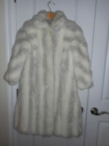 Girl's Size 8 Fur Coat