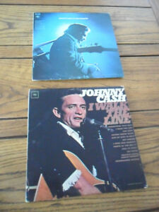 1964-69 Johnny Cash Vinyl Albums- I walk the line & San Quentin